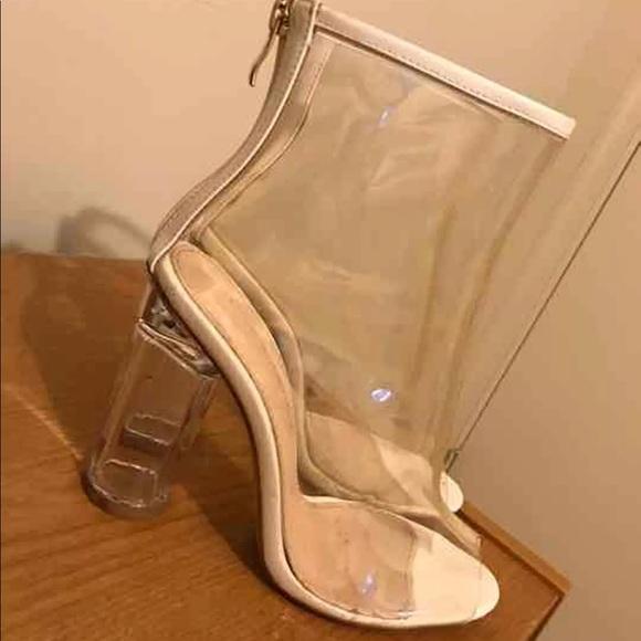 90d92f09460 Shoes | Clear Lola Shoetique Boot Heels | Poshmark